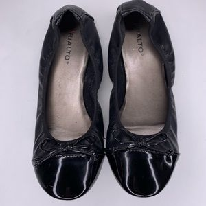 Rialto Sunnyside Faux Leather Ballet Flats 8.5 W